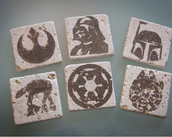 Star Wars Stone Coasters- Battle Scarred Edition