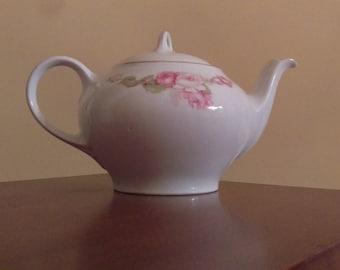 Vintage Z S & CO Bavarian Tea Pot Floral and Gold Zen Sherzer and Co