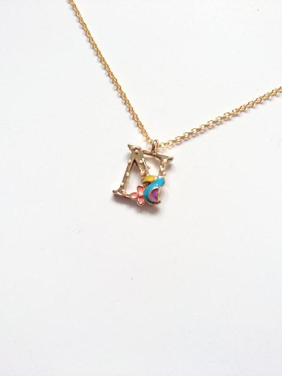 letter n childrens gift children necklace
