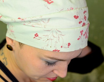 """lime tree wool hat, size 56-58, upcycling """"I was once a duvet cover"""""""