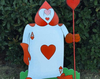Card Soldier Spades - Alice in wonderland - Party decoration - Cut out/standee
