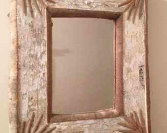 Birch Bark Mirror #1