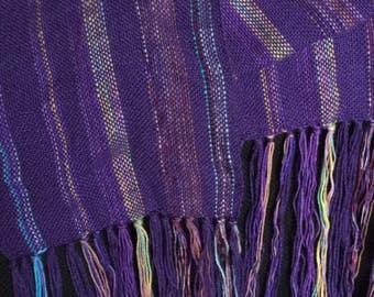 Wool stripey scarf
