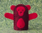 Fire Monkey Finger Puppet - Chinese New Year 2016 - Year of the Monkey Puppet - Felt Animal Puppet Fire Monkey