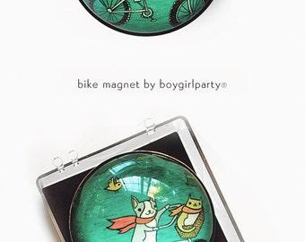 refrigerator magnet - BICYCLE ART magnet - cute gifts for boyfriend, cute gifts for friends, bicycle gifts, housewarming gift, cute magnet