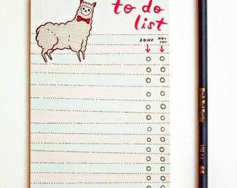 Llama llama - Work Gifts - TO DO LIST - Llama Gifts - Alpaca Gifts - Llama Stationery - llama love - alpaca love - funny gift