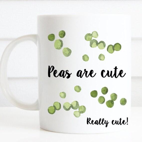 Peas are cute mug, cute & quirky vegetable mug