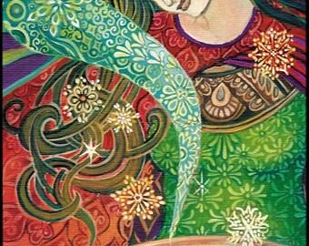 Cerridwen's Cauldron 12x18 Poster Fine Art Print Pagan Mythology Art Nouveau Gypsy Witch Psychedelic Goddess Art