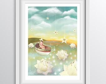 Wall Art Print - Adrift - A4 Digital Fine Art Print