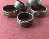 Ready to Ship! Art Nouveau Ring US Sizes 3.5 / 5.25 / 8.25 / 8.5 / 9 : Sterling Silver Oxidized