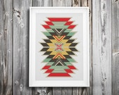 modern cross stitch pattern ++ indian tribal boho craft ++ pdf INsTAnT DOwNLoAD ++ diy ++ hipster ++ handmade design