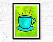 Coffee Cup Art Print - Co...