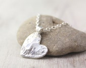 Watery Heart Silver Necklace