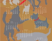 2016 Dog Calendar Dogs playing 2016 wall calendar poster 13 x 19 inches