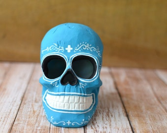 Turquoise Classic Day of the Dead Sugar Skull