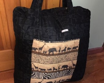 African Fabric, African Print Bag, Safari Bag, Toy Bag, Laundry Bag, Beach Bag, Travel Bag, African, Ghana