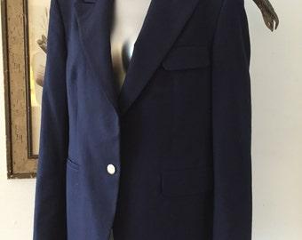 Vintage Burberry's Classic Navy Blazer