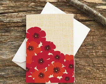 enclosure card / mini card / poppies