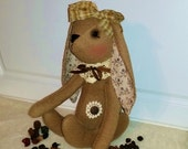 Folkart Plush Handmade Brown Binny Bunny