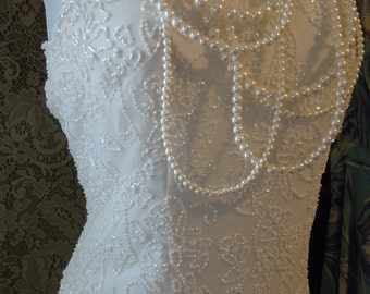 White beaded blouse vintage crop top flapper  evening party small  from vintage opulence on Etsy