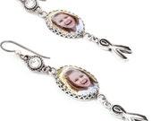Photo Earrings, Custom Earrings, Personalized Earrings, Drop Earrings, Charm Earrings, Create Your Own Earrings