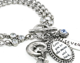 Quote Jewelry - Inspirational Jewelry - Saying Bracelet - Crystal Bracelet - Affirmations Jewelry - Gratitude Jewelry