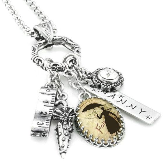 Nanny Jewelry, Nanny Necklace, Nanny Pendant, Babysitter Gift, Gift for Nanny, Children's Nanny