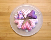 Mothers Day Pink and Purple  Hearts Ornaments Bowl Fillers Decorations