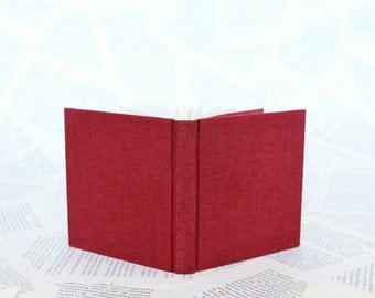 Small Hardcover Notebook in Red Linen