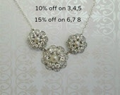Set of 3,4,5 Bridesmaid necklaces  bridesmaids jewelry Set of 4 bridesmaids sets Set of 5 Bridesmaids Gifts  Statement Necklace