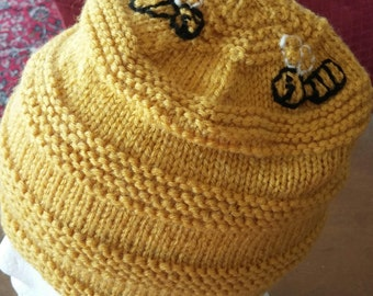Beehive hat for child
