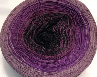 3-ply 100g light fingering weight gradient tied cotton Damask v.2