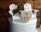 Adirondack Chair Wedding Cake Topper, Adirondack Chair Cake Topper, Adirondack Wedding, Cake Topper