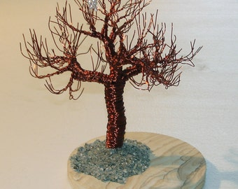 Joshua Tree with Blossom Wire Tree Sculpture