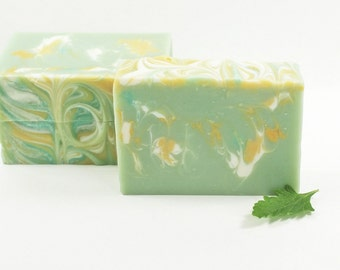 Sage Spa Soap | Cold Process Vegan Handcrafted Fresh Floral Unique Colorful Fun, Gift Bestfriend, Gift Idea For Her, Soap For Men Kids
