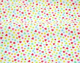 Hundreds and Thousands in White - from Lolly by Maude Asbury for Blend Fabrics - fabric by the quarter yard
