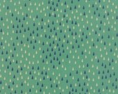 Japanese Fabric, Cotton Fabric by the Yard, Nature fabric, Raindrop fabric, Flying Colors by Momo, Raindrops Aqua, Choose your cut