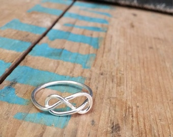 Love Knot Ring, Sterling Silver Infinity Knot Ring, Infinity Ring, Tie the Knot Ring