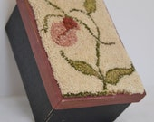 Punchneedle Lady Slipper Paper Mache box