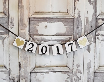 NeW YeArS banner, 2017 banner, Happy New Year banner, New Years party, Happy New Years Day, party decorations, Year 2017 banner