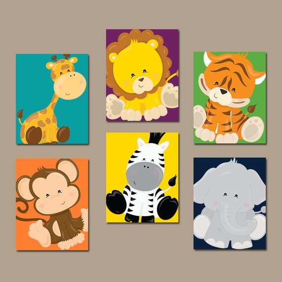 Baby Animals Wall Art Jungle Animals Safari Animals Baby