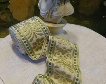 Vintage Upholstery Trim Floral Leaf Pattern 4+ Yards