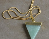 Jade Triangle Pendant Necklace