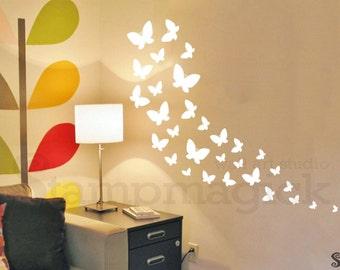 Butterflies Wall Decal for Baby Nursery Wall Decor Vinyl Wall Art for Children's Room - K392