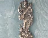 Saraswati Sterling Silver Pendant