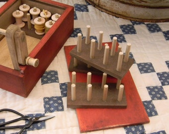 Accessory Spool Stands for the FLOSS WINDING BOX - from Notforgotten Farm™