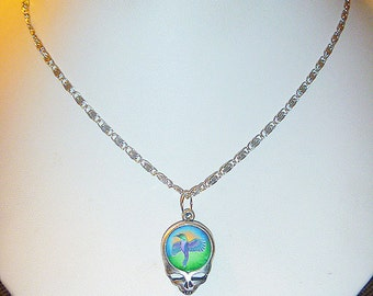 Grateful Dead SYF Hummingbird  Necklace    handmade  jewelry  hippie women girls  kids