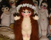 Reserved for Rose Flapper Nymph Kewpie Bisque Doll Repaint Red Hair