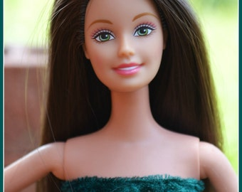 Ashes To Beauty Gem #6 Barbie Doll Restored Refurbished Re-purposed Brunette Barbie