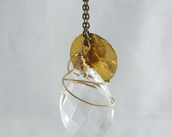 Shari - Gold Crystal Necklace